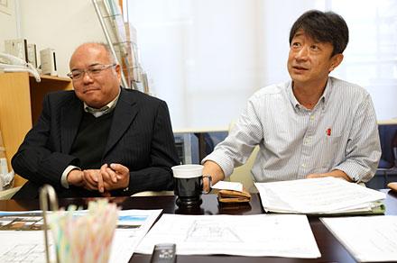 代表・蔵所さんと設計・山口さんのタッグ歴は長い