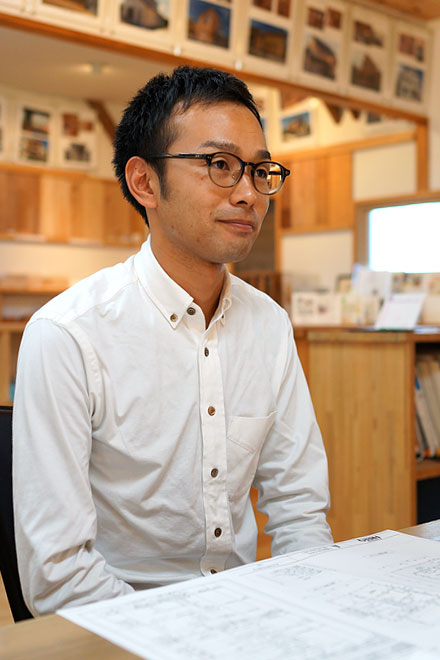 新しい挑戦、規格住宅の設計を任されている谷口さん